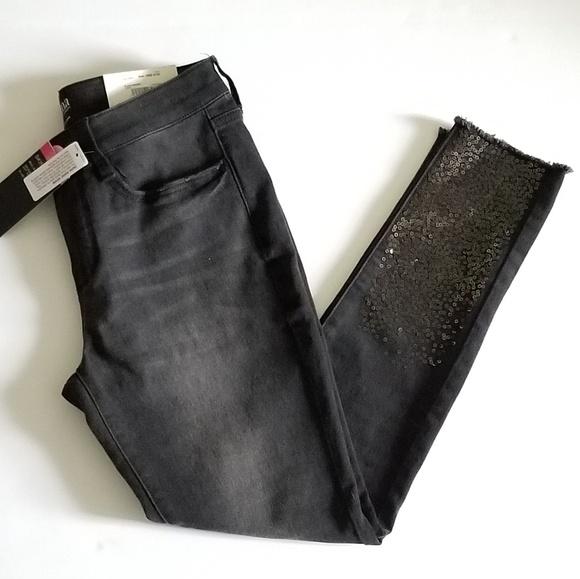 a.n.a Denim - Black Sequin ANA jeans